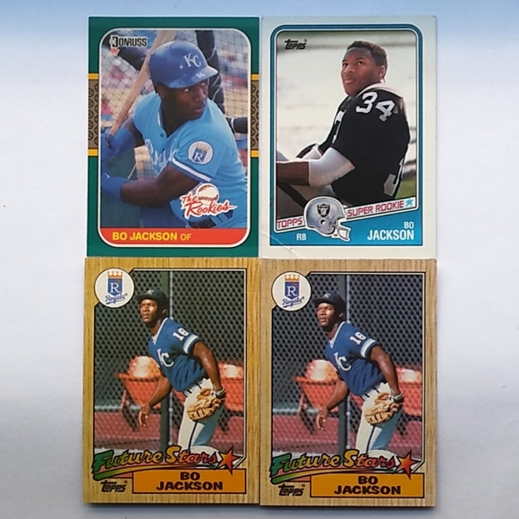 Bo Jackson 4 Card LOT